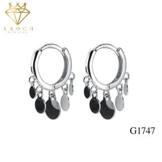 Khuyên tai bạc Ý s925 vòng tròn tua rua thời trang G1747 - AROCH Jewelry