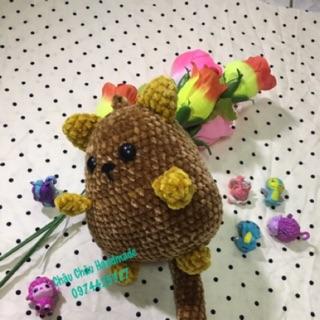 Chuột len nhung nhồi bông