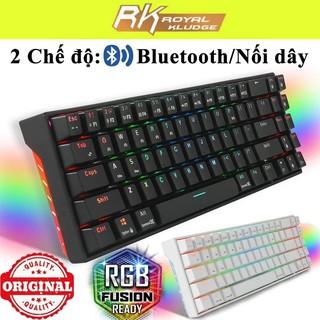 Bộ Kit Bàn Phím Cơ RK71 Pro Gaming Bluetooth 4.0 Version 3.0 Led RGB - Có phần mềm tuỳ chỉnh Led RGB và Custom từng pím thumbnail