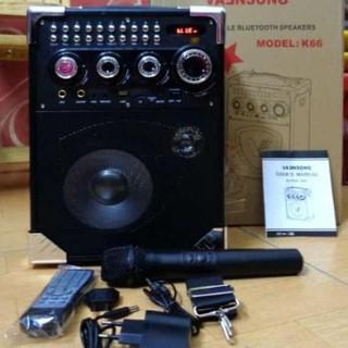 Loa kẹo kéo karaoke K66 – TẶNG MIC – K66
