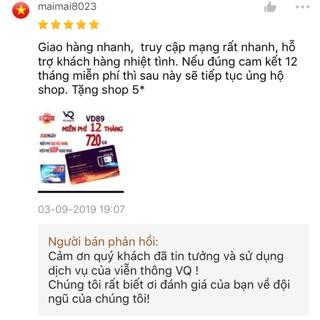 Đánh giá khách hàng về shop Sim vd89 12 tháng vinaphone