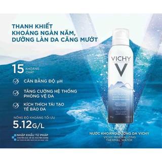 [CHÍNH HÃNG] Xịt khoáng dưỡng da Vichy Mineralizing Thermal Water 300ml