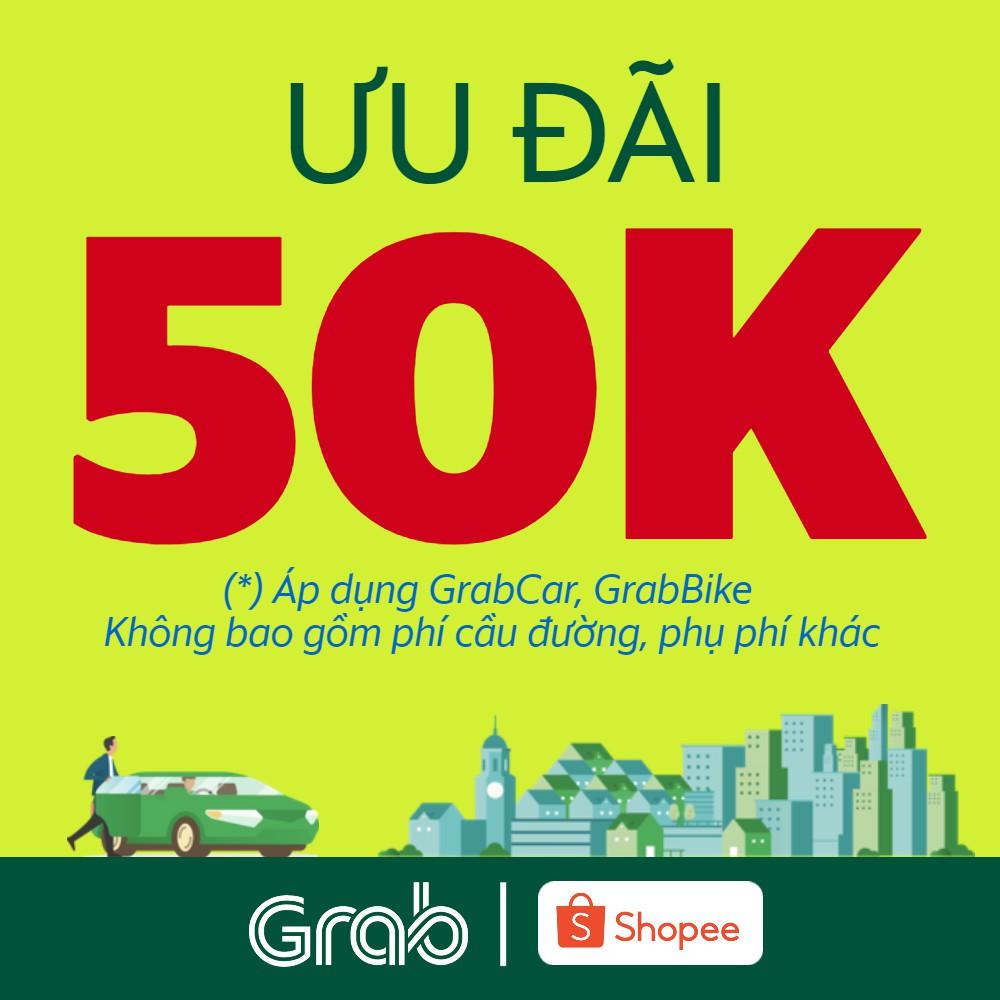 Ưu đãi 50k cho chuyến xe GrabBike, GrabCar