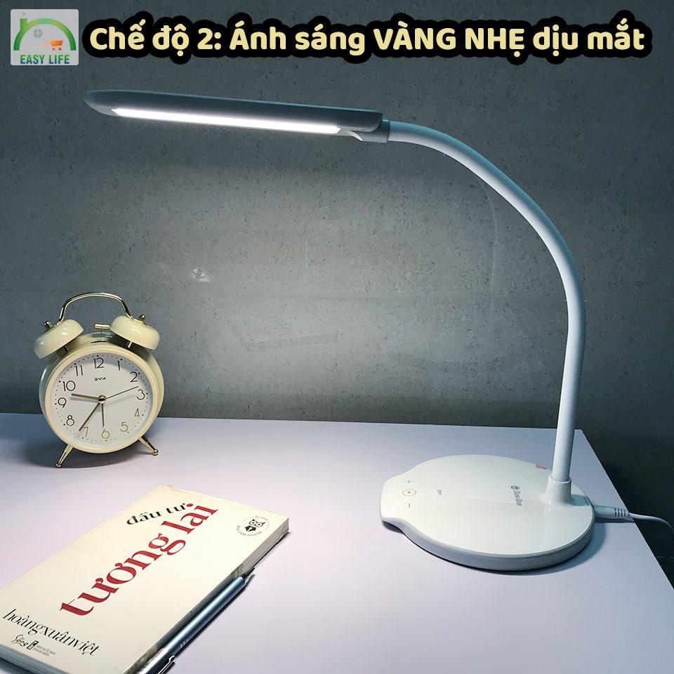 Đèn bàn Rạng Đông cảm ứng cao cấp 3 màu ánh sáng: VÀNG ĐẬM - VÀNG NHẠT - TRẮNG