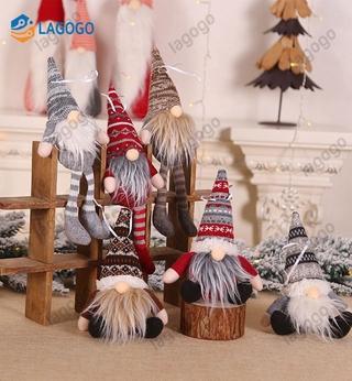 *Can COD* Christmas stripe hat invisible dwarf Santa doll pendant Nordic dwarf Doll Christmas tree ornament doll decoration LGOGO