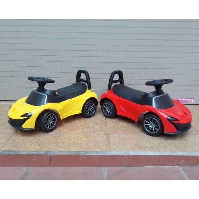 Xe ô tô điện chòi chân cho bé( có Nhạc + tựa lưng + thùng chứa đồ