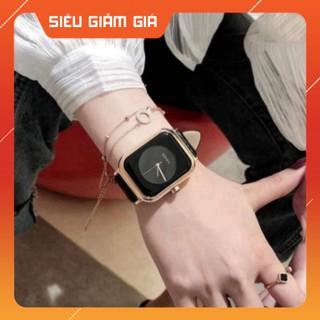 Đồng hồ nữ dây da mặt vuông G.u.o.u siêu xinh , da mềm bền