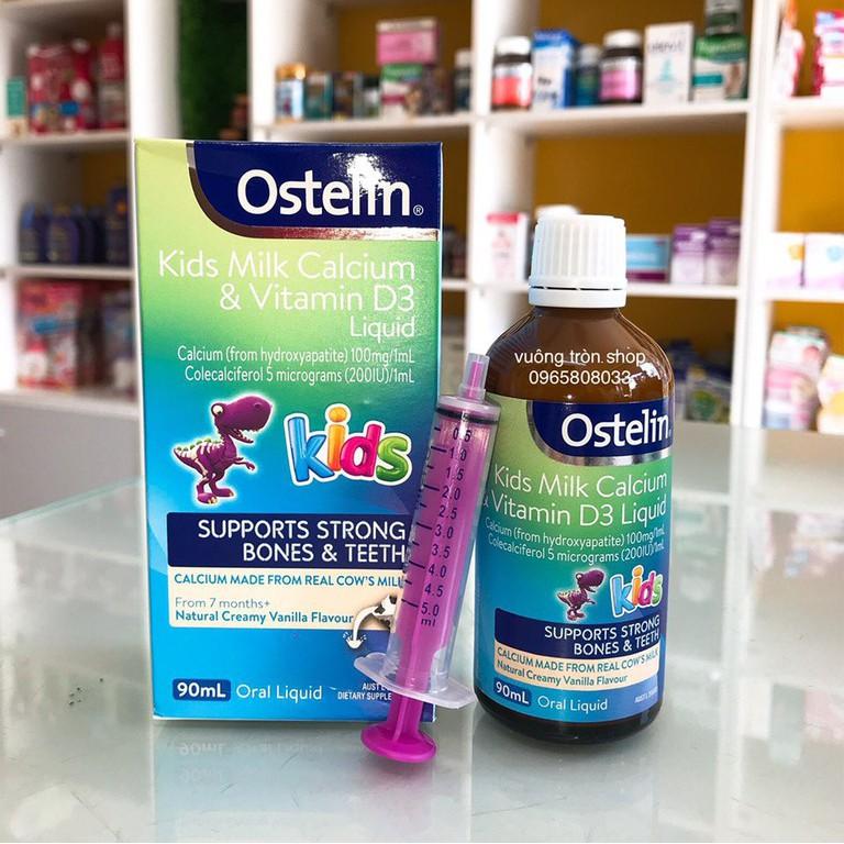 Ostelin Canxi & Vitamin D3 90ml cho bé từ 7 tháng | Shopee Việt Nam