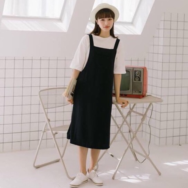 Set váy yếm đen + áo thun trắng - 2816084 , 1032510666 , 322_1032510666 , 125000 , Set-vay-yem-den-ao-thun-trang-322_1032510666 , shopee.vn , Set váy yếm đen + áo thun trắng