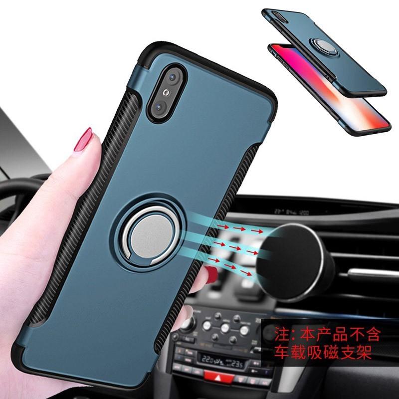 Ốp lưng nhựa có đế nhẫn đeo tay và nam châm đầy tiện lợi dành cho iphone X 7/8 7/8 Plus