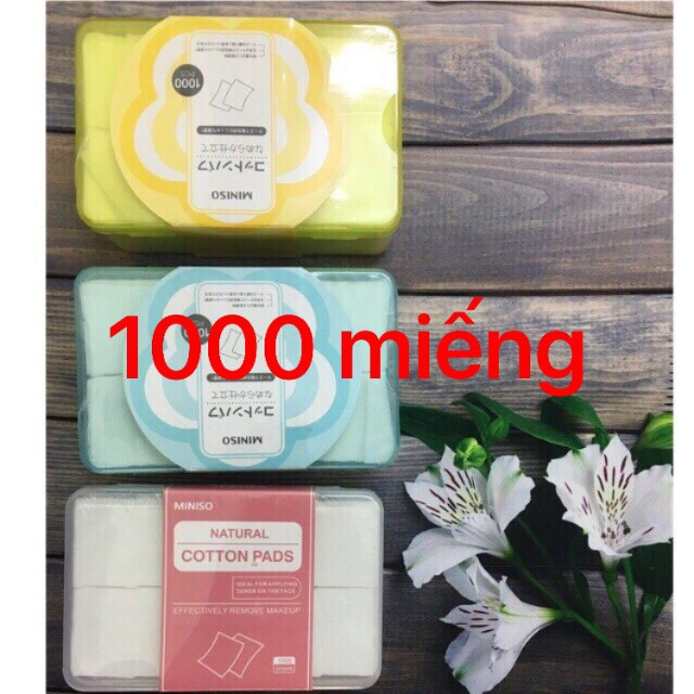Hộp Bông Tẩy Trang Miniso 1000 - 800 - 475 - 180 -150 miếng