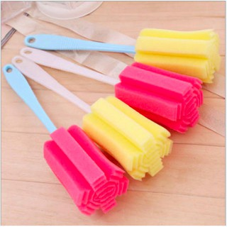 [Siêu Tiết Kiệm] Dụng Cụ Rửa Cốc Ly màu vàng, miếng rửa cốc , chén , ly thumbnail