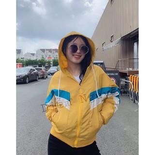Áo khoác dù nữ phối màu dễ thương mã -150