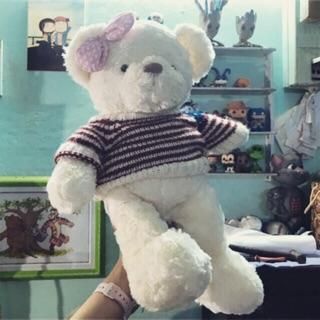 GẤU BÔNG TEDDY TRẮNG 55cm