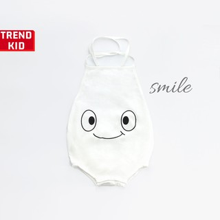 [Mã TREND20 giảm 15% đơn 99K] Yếm đào mặt cười cho bé trai, bé gái, trẻ sơ sinh màu trắng michley