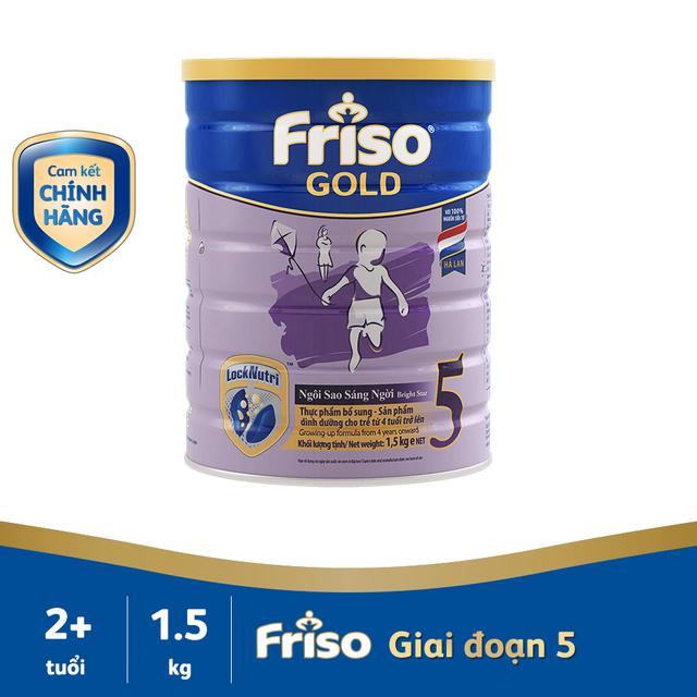 [Mã MKBCFCV05 giảm 7% đơn 450K] Sữa bột Friso Gold 5 1,5kg (từ 4 tuổi trở lên) date 2020