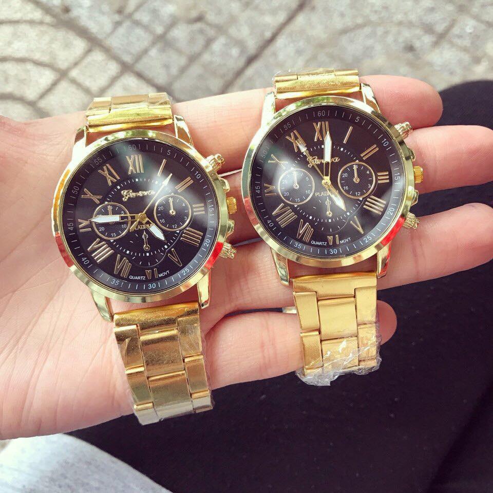 Đồng hồ nam Geneva Dây hợp kim sang trọng.