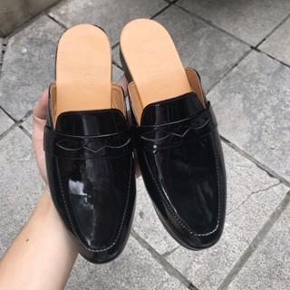 Sục nam da bóng-giày lười hở gót xả kho giá gốc
