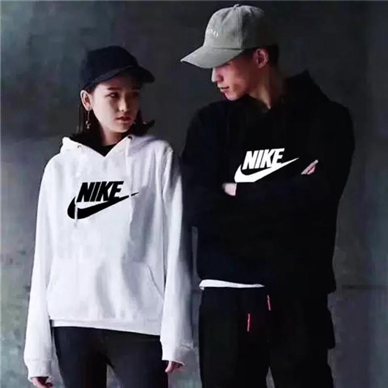 Áo hoodie Nike tay dài kiểu dáng đơn giản thời trang cho nam và nữ