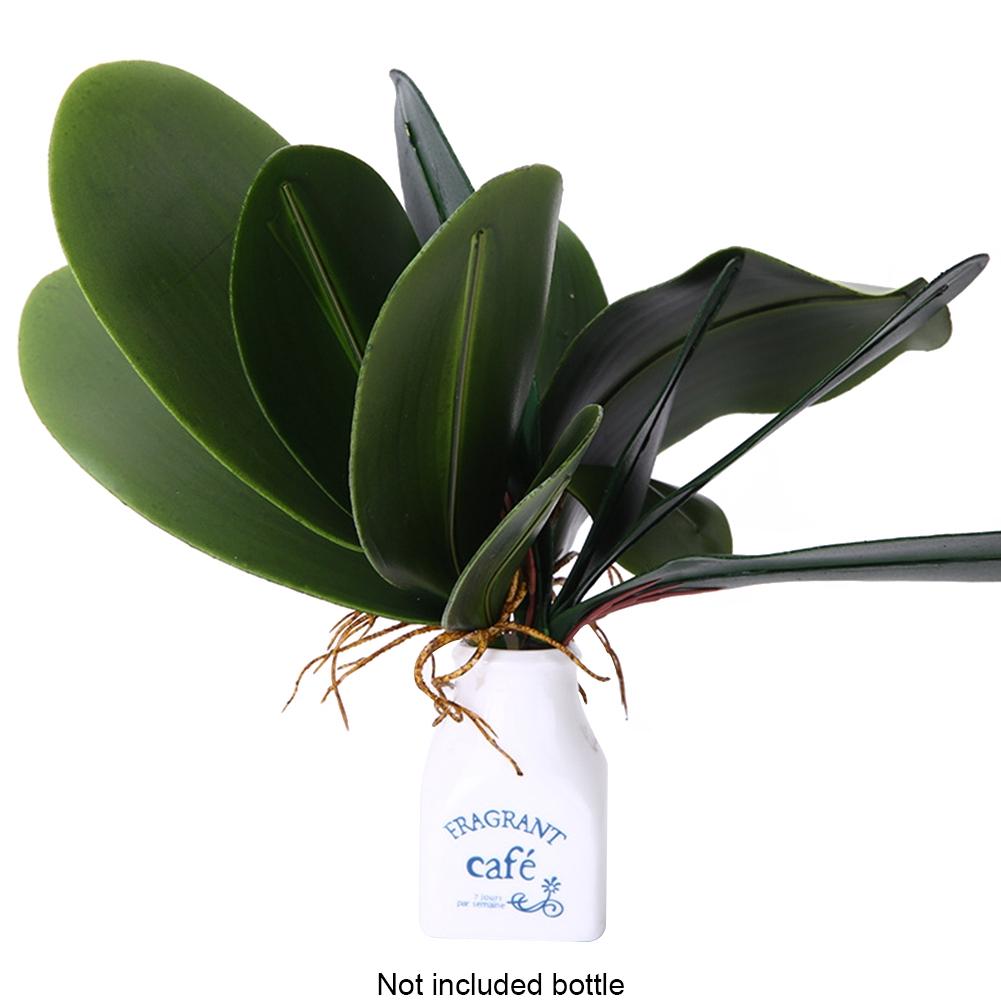 Plastic DIY Landscape Office Butterfly Orchid Leaves Desktop Simulation Decoration Wedding Artificial Plants
