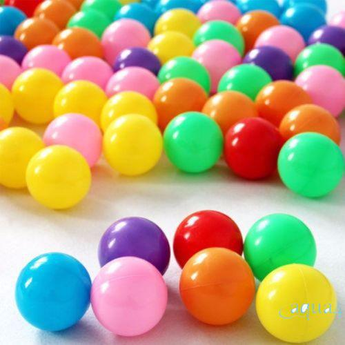 ❄❅❆Practical multicolor marine ball Quality Secure Baby Kid Pit Toy Swim Fun Colorful Soft Plastic Ocean Ball
