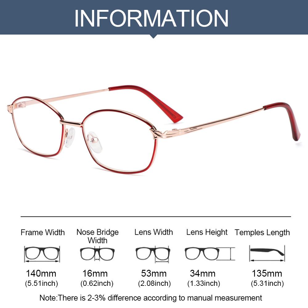 SOFTNESS Unisex Reading Glasses Vision Care Eyeglasses Presbyopic Glasses Portable Ultralight High-definition +1.00~+4.00 Metal Frames/Multicolor