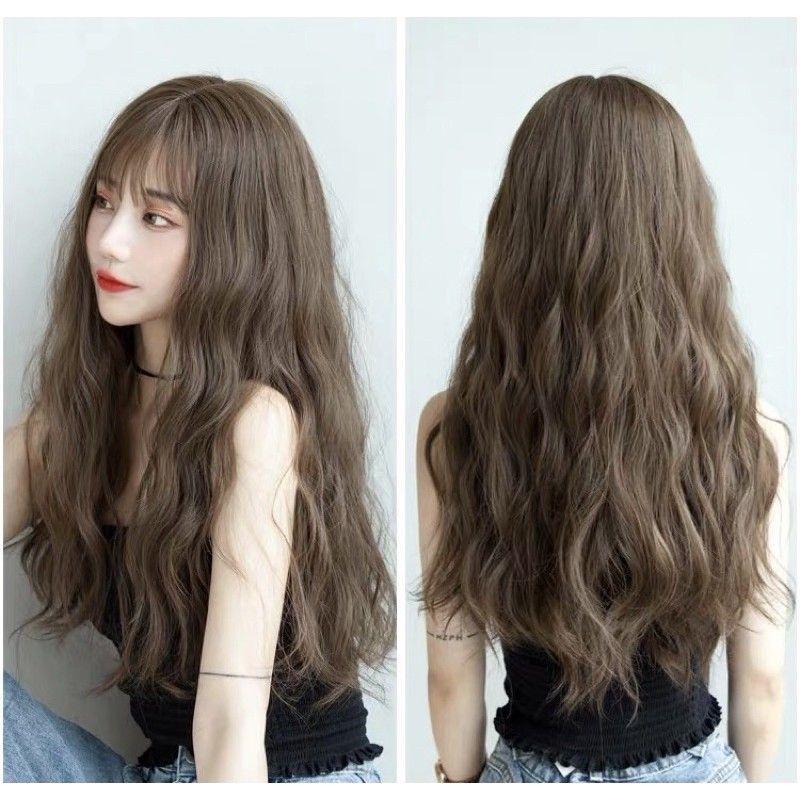 tóc giả nguyên đầu (tặng kèm chai xịt dưỡng)