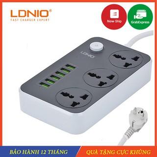 Ổ điện đa năng, Ổ cắm điện thông minh 6 cổng USB an toàn chống giật,chống cháy nổ – LDNIO – Hàng Chính Hãng