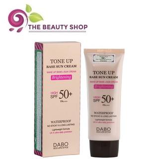 Kem chống nắng, lót nền trang điểm nâng tone da Dabo Tone up Base Sun Cream SPF50 70ml thumbnail