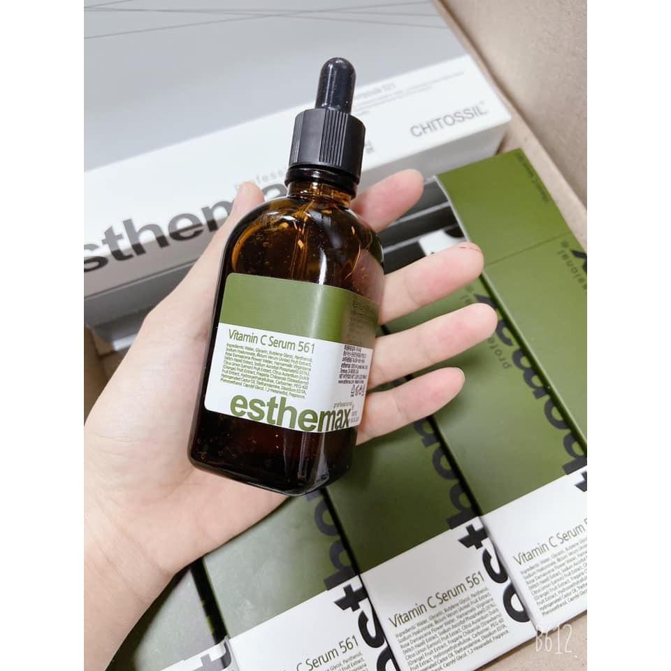 Serum Vitamin C, Serum 561 nổi tiếng của hãng Esthemax làm trắng da, mờ thâm sạm, cải thiện mụn, se lỗ chân lôn