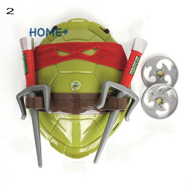 Tsuc Teenage Mutant Ninja Turtles Weapons Toys TMNT Turtles Armor Shell Toy Movie Toys Kids Brinquedos Birthday Gifts @vn