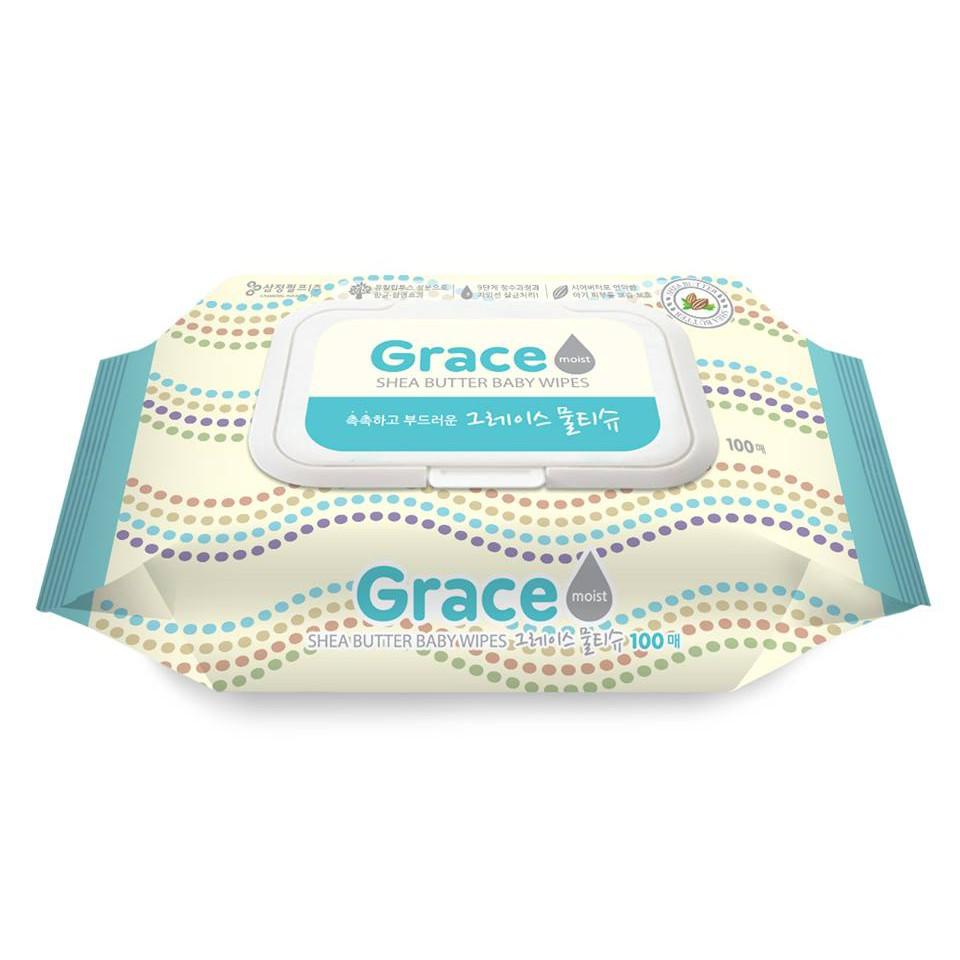 Combo 3 Khăn ướt Grace - loại 100 tờ/gói