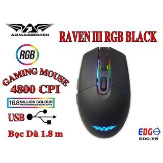 Chuột Gaming Raven-III Led 16 triệu màu đổi tùy ý thumbnail