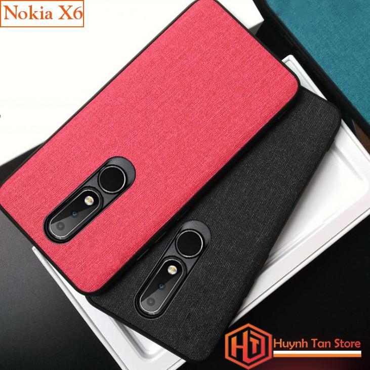 Ốp lưng Nokia X6 2018 vân vải jean (full màu)
