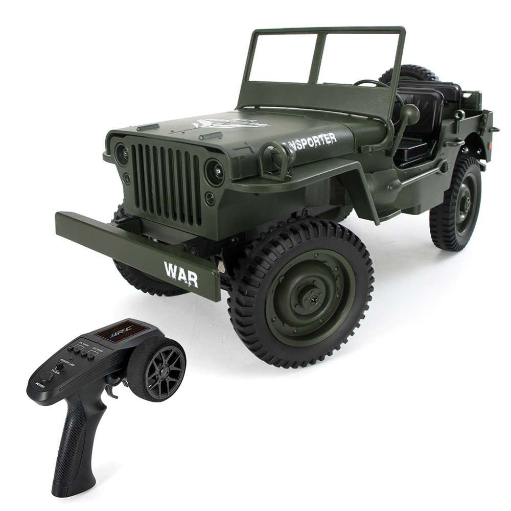 Xe ô tô điều khiển JJRC Q65 – Jeep Transporter 4×4 tỉ lệ 1:10 (Màu xanh bộ đội)