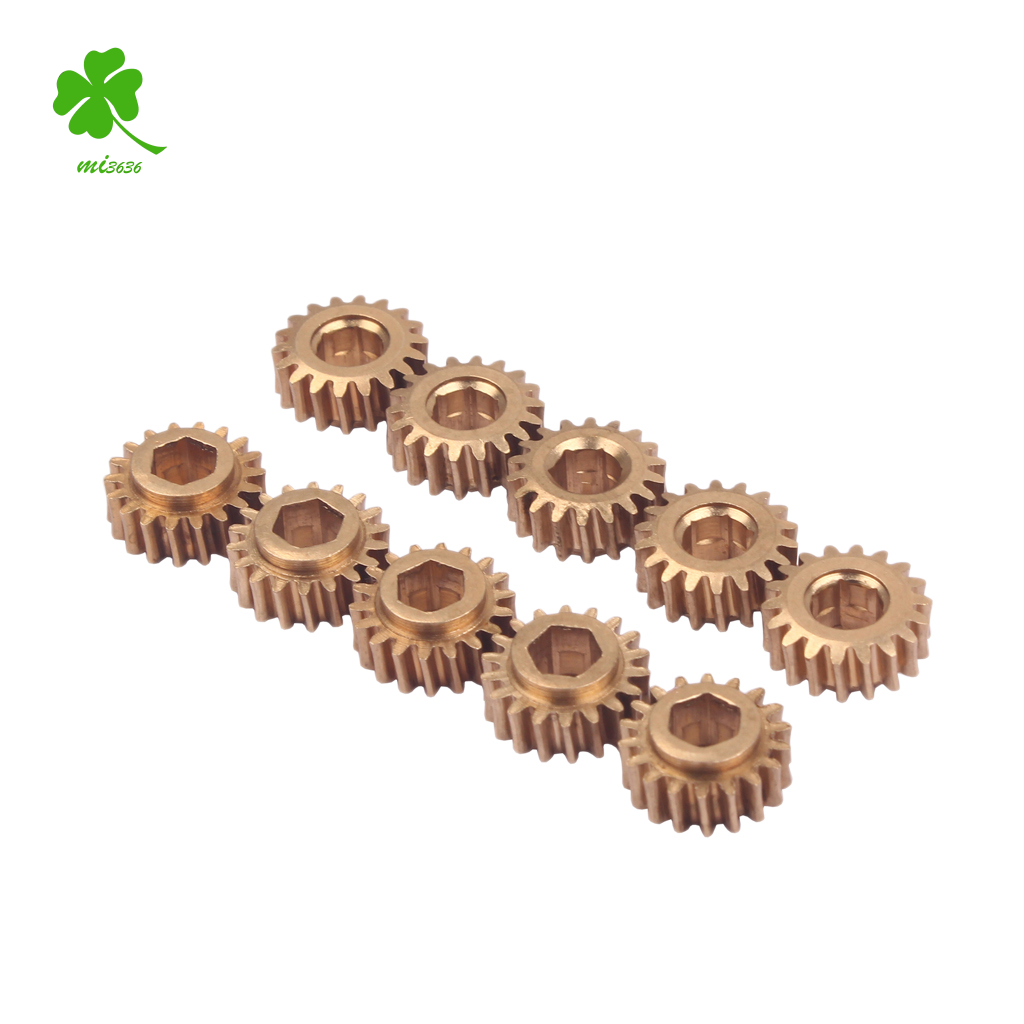 30 Pcs Brass Hex Hole Gear for Guitar Tuners Tuning Pegs Key Machine Head Replacement - Gear Ratio 1:18