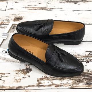 Giày Tây Nam Công Sở Chất Liệu Da Bò Thật GY051 Đen