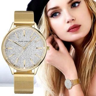Đồng hồ nữ MINI FOCUS MF044 dây thép lụa bầu trời lấp lánh sang chảnh