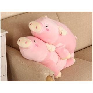 Gối ngủ lợn hồng size to giá rẻ – gấu bông lợn hồng