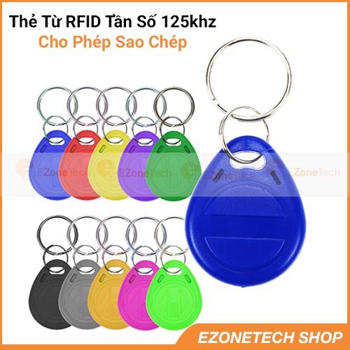 [Thẻ Từ Dành Cho Sao Chép] Thẻ Từ RFID Tần Số 125Khz Chip T5577 Dạng Móc Khóa Sao Chép Thẻ Thang Máy
