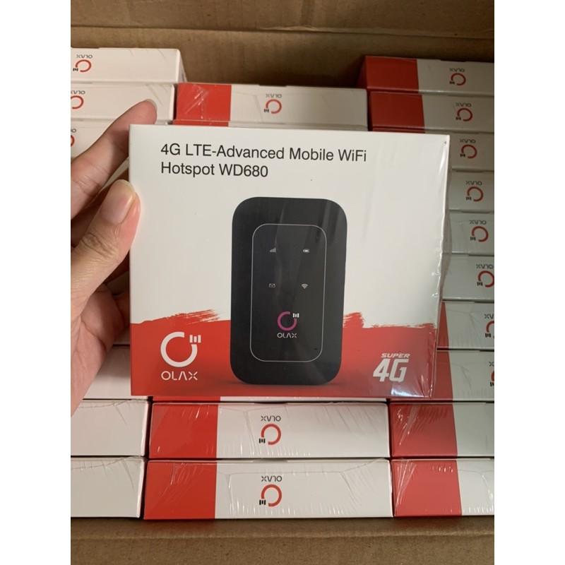 [Mã 267ELSALE hoàn 7% đơn 300K] Phát wifi 4G Di Động Olax WD680
