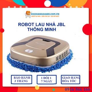 Robot lau nhà - Vệ Sinh Nhà Cửa - Có Vieo Thật - Máy Lau Nhà Tự Động Hai Chế Độ Lau Khô Và Ướt Sử Dụng Pin Sạc