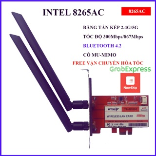 Card wifi intel 8265AC dành cho máy tính bàn