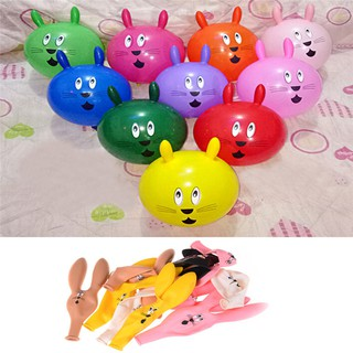10Pcs Cute Rabbit Ears Latex Balloons Party Baby Birthday Supplies Decor