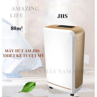 Máy hút ẩm tự động JHS thương hiệu Đức, công suất lớn, sấy quần áo, khử mùi, diệt khuẩn, lọc không khí (hình thật)