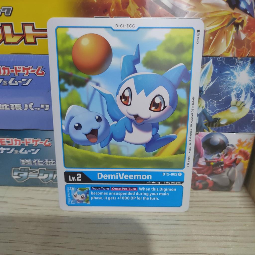 Thẻ bài lẻ Digimon tiếng Anh loại phổ thông chính hãng Bandai (cập nhật liên tục)