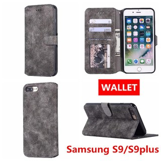 Samsung Case S9/S9plus Phone Case Retro TPU Soft Cover Wallet Casing