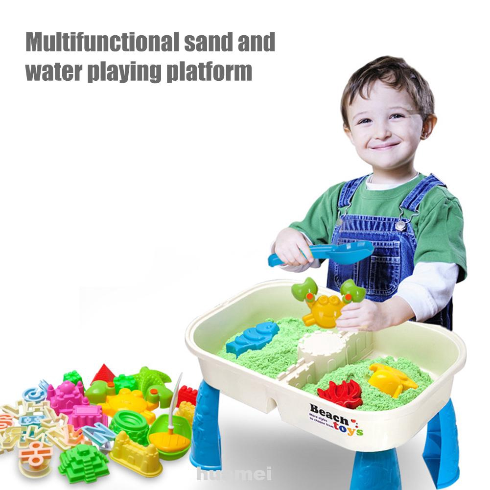 Outdoor Plastic Summer Non Toxic Assortment Kids Gift Sandbox Digging Pit Dredging Tool Storage Room Beach Sand Toys Set