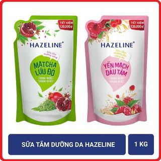 Sữa tắm dưỡng da Hazeline 1kg (Túi) TẶNG TÚI VẢI THỜI TRANG thumbnail