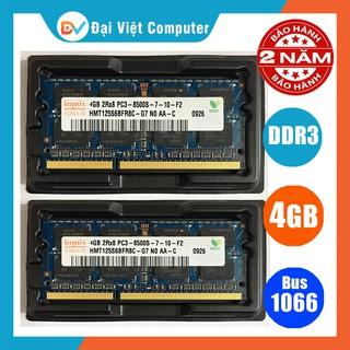 Ram laptop 4GB 2GB DDR3 bus 1066 PC3 8500s (hãng ngẫu nhiên) samsung hynix kingston …